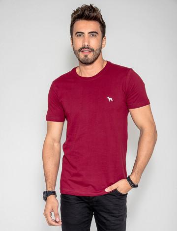 Camiseta Atacado Basica Masculino Revanche Foggia Bordô Frente
