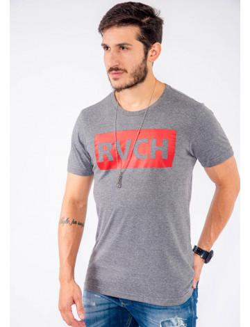 Camiseta Atacado Estampa Masculina Revanche RVCH Mescla Frente