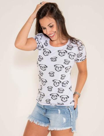 Camiseta Atacado Estampada Feminino Revanche Dascq