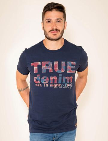 Camiseta Atacado Estampada Masculina Revanche Giugliano Azul