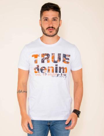 Camiseta Atacado Estampada Masculina Revanche Giugliano Branco