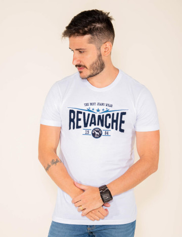 Camiseta Atacado Estampada Masculina Revanche Jacksonville Branco