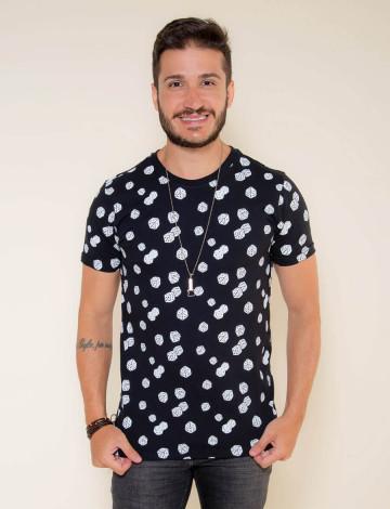 Camiseta Atacado Estampada Masculina Revanche Veryl Preta Frente