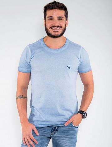 Camiseta Atacado Estonada Masculina Revanche Belmopã Azul Claro Frente