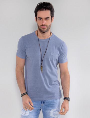 Camiseta Atacado Estonada Masculina Revanche Belmopã Azul Murano Frente