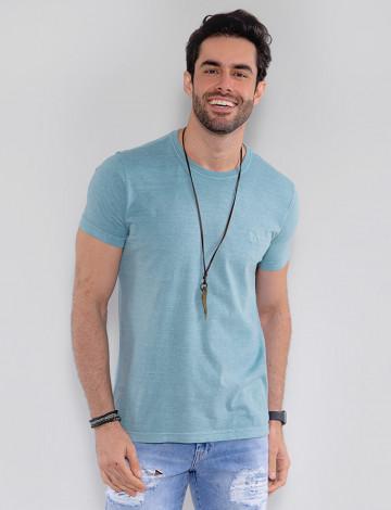 Camiseta Atacado Estonada Masculina Revanche Belmopã Azul Turquesa Frente