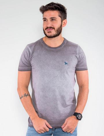 Camiseta Atacado Estonada Masculina Revanche Belmopã Cinza Frente