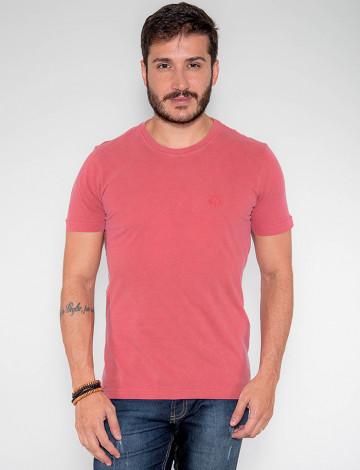 Camiseta Atacado Estonada Masculina Revanche Belmopã Rosa Frente