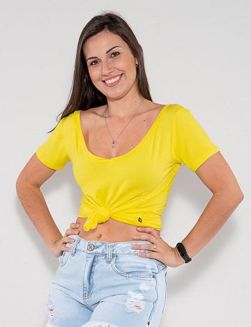 Camiseta Atacado Feminina Revanche Fabienne Amarelo Frente