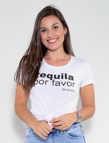 Camiseta Atacado Feminina Revanche Tequila Branco Frente