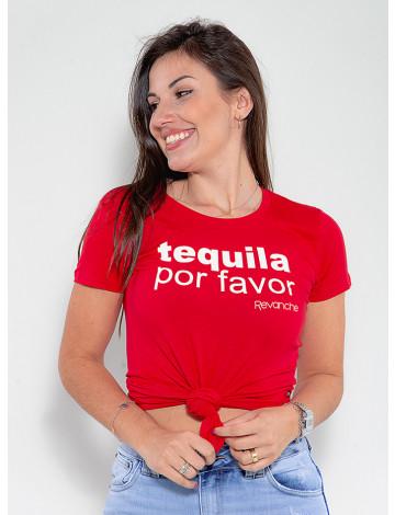 Camiseta Atacado Feminina Revanche Tequila Vermelho Frente