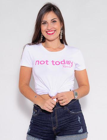 Camiseta Atacado Feminina Revanche Not Today Branco Frente