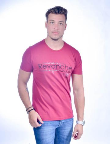 Camiseta Atacado Masculina Bordado Revanche Estampa 1984 Dog Rosa Frente