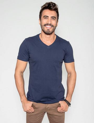 Camiseta Atacado Masculina Revanche Bratislava Azul Marinho Frente
