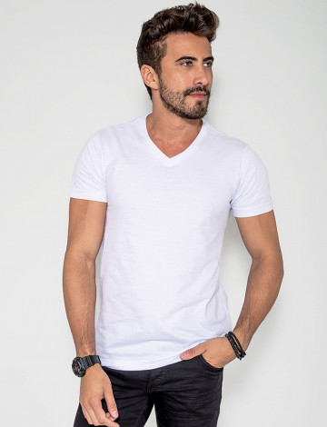 Camiseta Atacado Masculina Revanche Bratislava Branco Frente