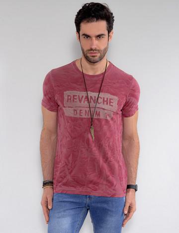 Camiseta Atacado Masculina Revanche Chanler Vermelho Frente