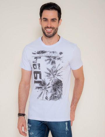Camiseta Atacado Masculina Revanche Coqueiro 1984 Branca Frente