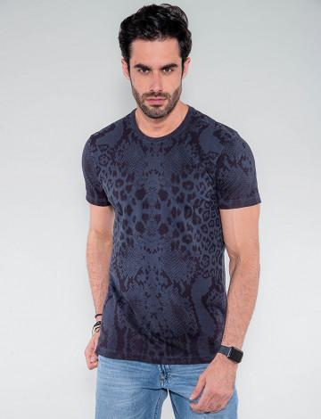 Camiseta Atacado Masculina Revanche Cuaite Azul Marinho Frente