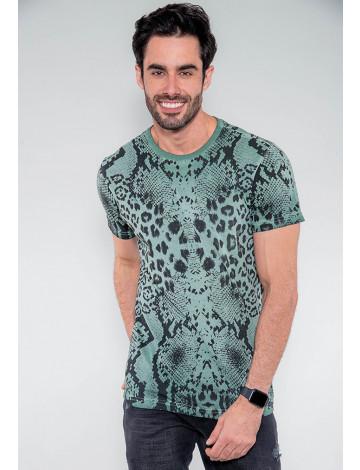 Camiseta Atacado Masculina Revanche Cuaite Verde Frente