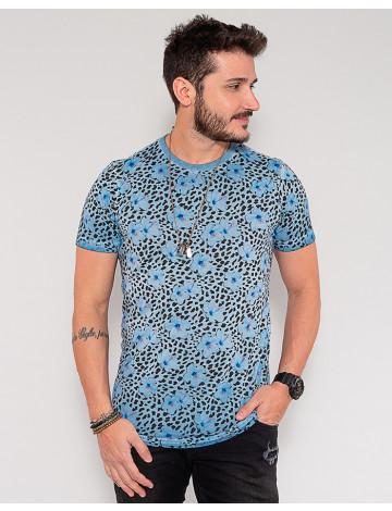 Camiseta Atacado Masculina Revanche Dashiell Azul Frente