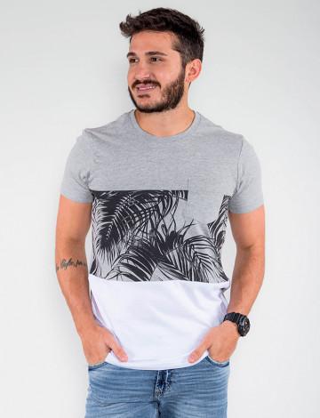 Camiseta Atacado Masculina Revanche Dual Color Mescla Frente