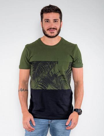 Camiseta Atacado Masculina Revanche Dual Color Verde Frente