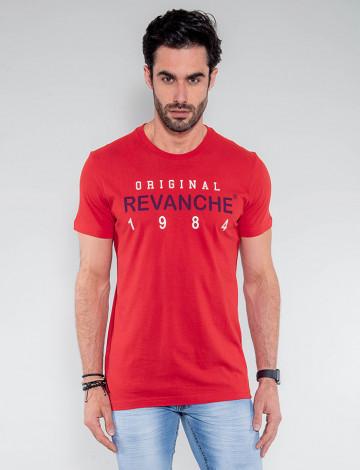 Camiseta Atacado Masculina Revanche Eslováquia Vermelho Frente