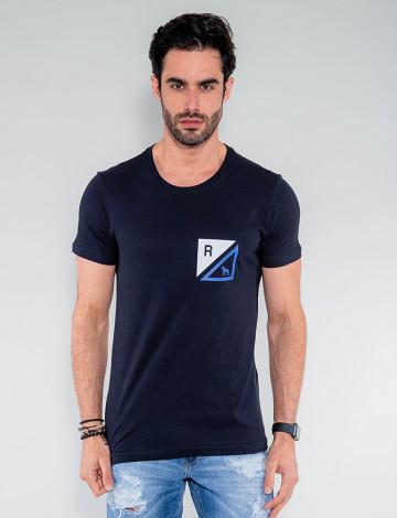 Camiseta Atacado Masculina Revanche Granada Preto Frente