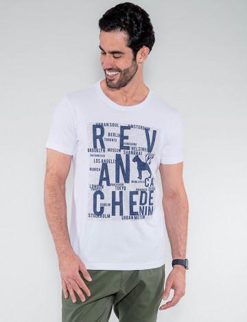 Camiseta Atacado Masculina Revanche Lesoto Branco Frente