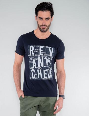 Camiseta Atacado Masculina Revanche Lesoto Preto Frente