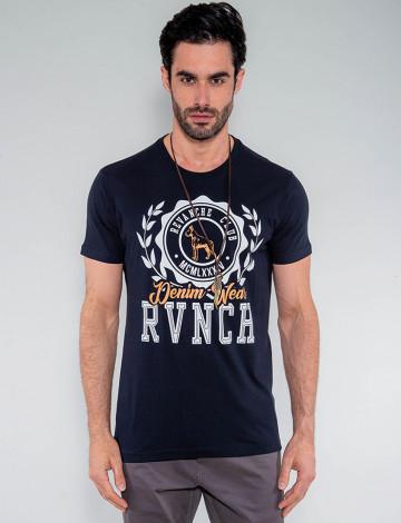 Camiseta Atacado Masculina Revanche Moldávia Preto Frente