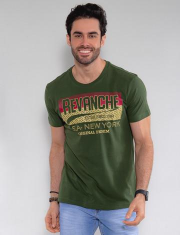 Camiseta Atacado Masculina Revanche Times Verde Frente