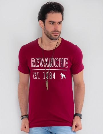 Camiseta Atacado Masculina Revanche Turcomenistão Vinho Frente