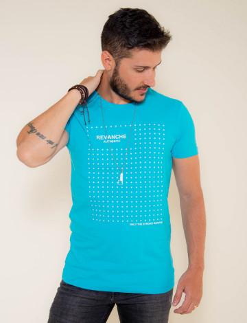 Camiseta Atacado Masculino Revanche Star Azul Frente