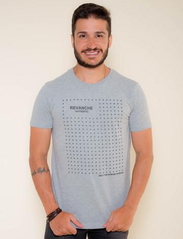 Camiseta Atacado Masculino Revanche Star Mescla Frente