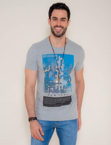 Camiseta Atacado Silk Masculina Revanche State Mescla Frente