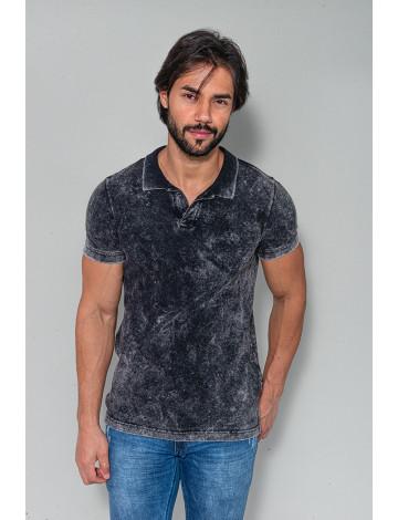 Camiseta Polo Atacado Masculina Revanche Compenhag 2 Preto Frente