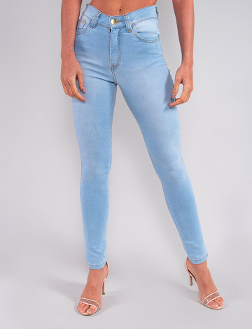Calça Jeans Atacado Cigarrete Feminina Revanche Josobelle Azul Frente