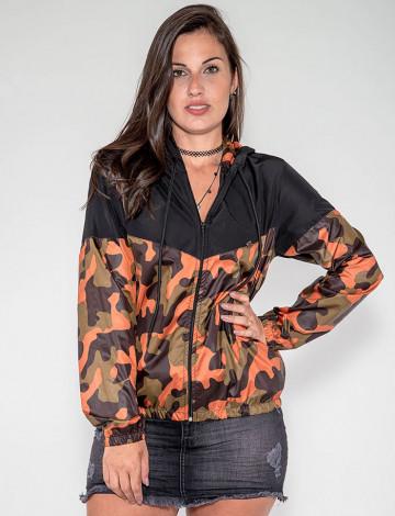 Jaqueta Atacado Camuflada Ferrugem Feminina Revanche Liubliana Preto Frente