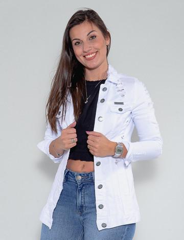 Jaqueta Color Atacado Max Feminina Revanche Bettine Branco Frente