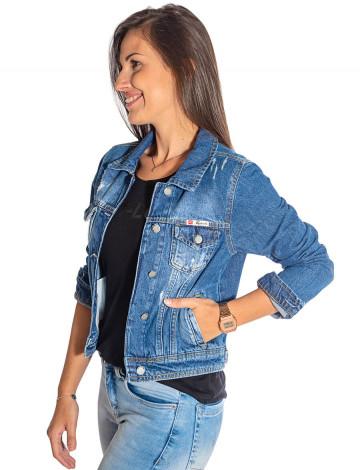 2d865db26f Jaqueta Jeans Atacado Bolso Embutido Feminina Revanche Marselha Frente.  Mais Visões