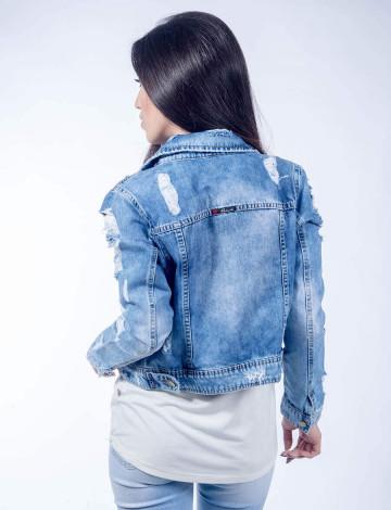f011849ef Jaqueta Jeans Atacado Destroyed Feminina Revanche Viena. Jaqueta Jeans  Atacado Destroyed Feminina Revanche Viena Frente. Mais Visões