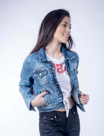 Jaqueta Jeans Atacado Feminina Revanche Nassau Frente