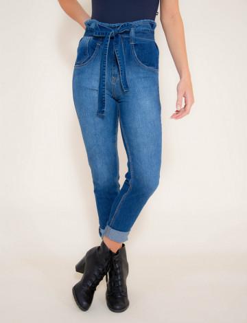 Calça Jeans Atacado Clochard Feminina Revanche Moscow Azul Frente