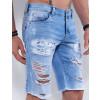 Bermuda Jeans Atacado Masculina Revanche Coréia do Sul Azul Detalhe Dois