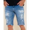 Bermuda Jeans Atacado Masculino Revanche Abeba Azul Zoom