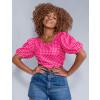 Blusa Atacado Cropped Feminina Revanche Elisa Pink Frente