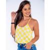 Blusinha Atacado c/ Circulos Feminina Revanche Columbus Amarelo Frente