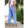 Calça Jeans Atacado Cropped Feminina Revanche Nádia Azul Costas