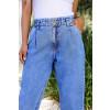Calça Jeans Atacado Cropped Feminina Revanche Nádia Azul Detalhe Frente